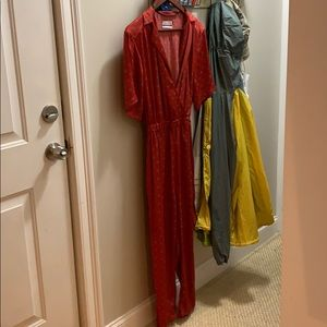 Urban Outfitters Silk Jumpsuit